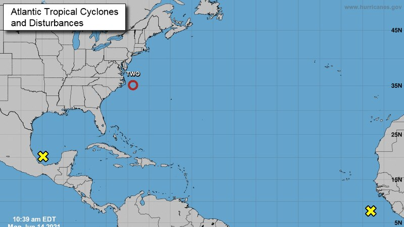 The National Hurricane Center's 11 a.m. report Monday is tracking three systems.