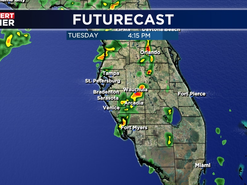Scattered storms in the forecast