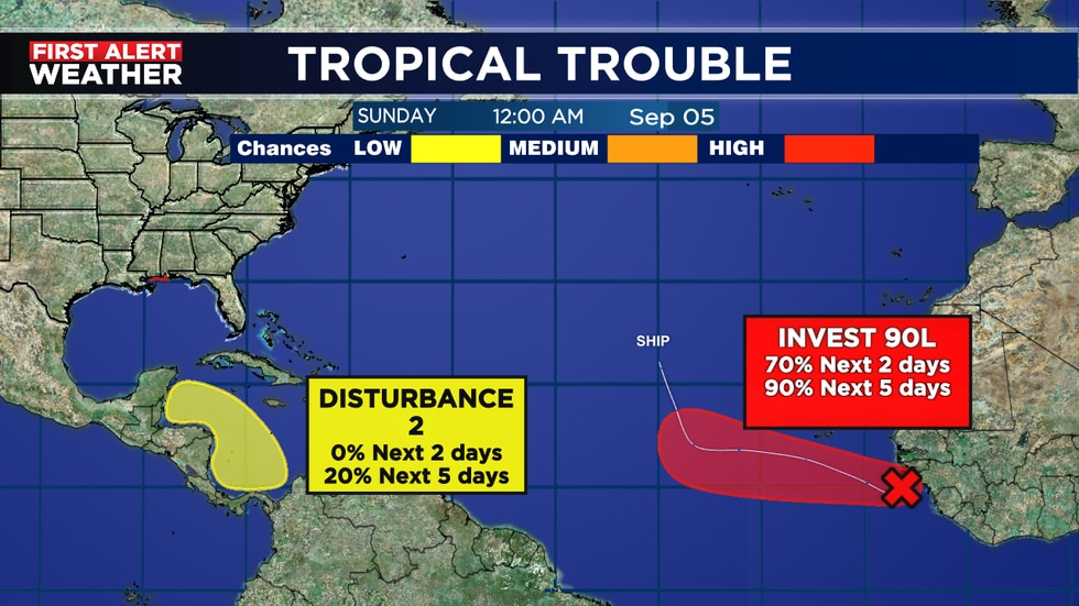 Could see Larry develop soon in far E. Atlantic