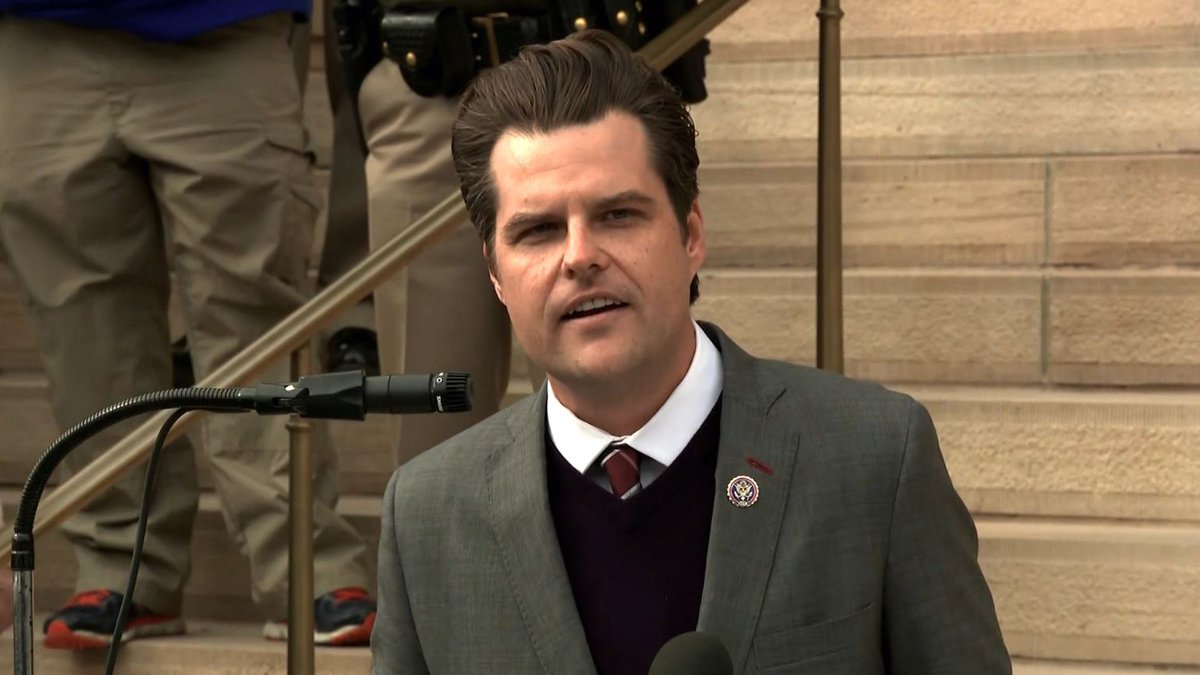 FILE – A Florida man was charged with attempting to defraud the family of Rep. Matt Gaetz,...
