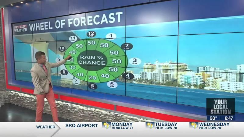 Rain chances increase Monday