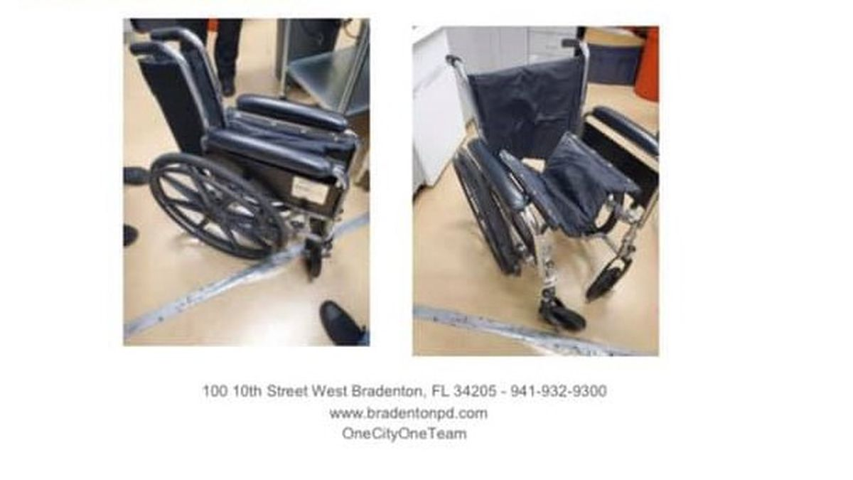 The deceased woman was found dead in this wheelchair.