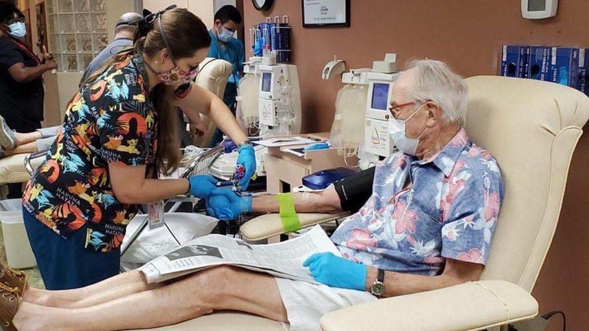 Suncoast man donates convalescent plasma after recovering from COVID-19.