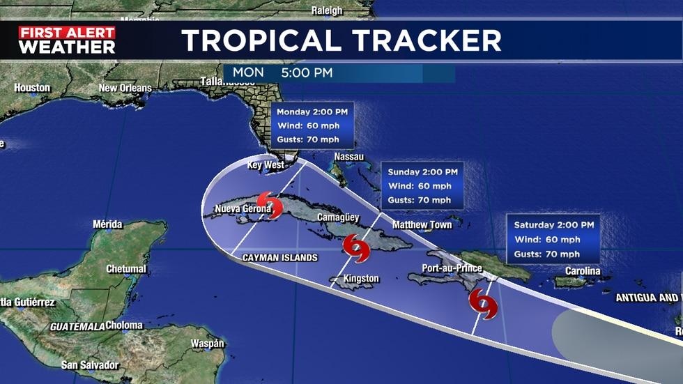 Cone getting close to Florida