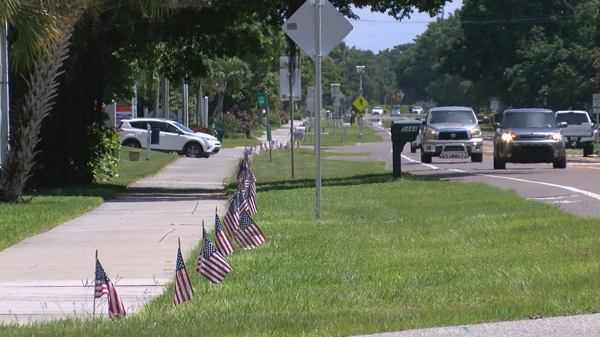 Longboat Key remembers 9/11 victims with flags.