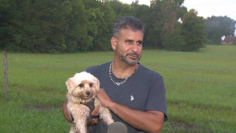 Joel Rosa says his dog, Maggie, saved his life when she woke him in the middle of the night and...