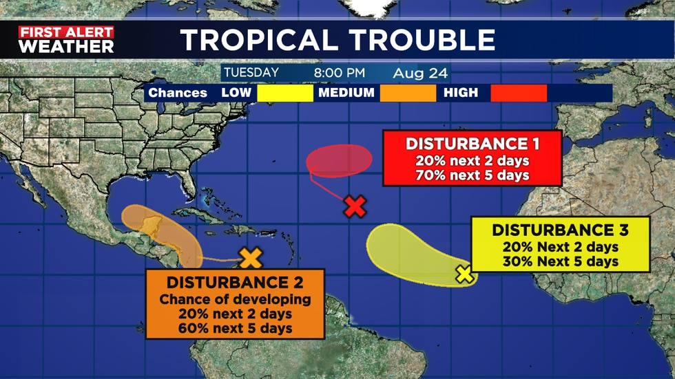 Disturbance 2 likely to develop and head toward Texas