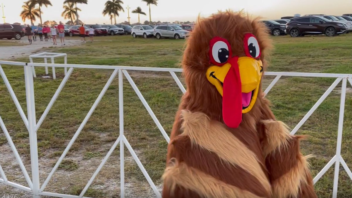 Person at Nathan Benderson Park dressed as a Turkey, celebrating the 3rd Annual Florida Turkey...