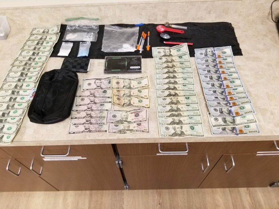 Some of the evidence collected after the arrest in Port Charlotte Wednesday.
