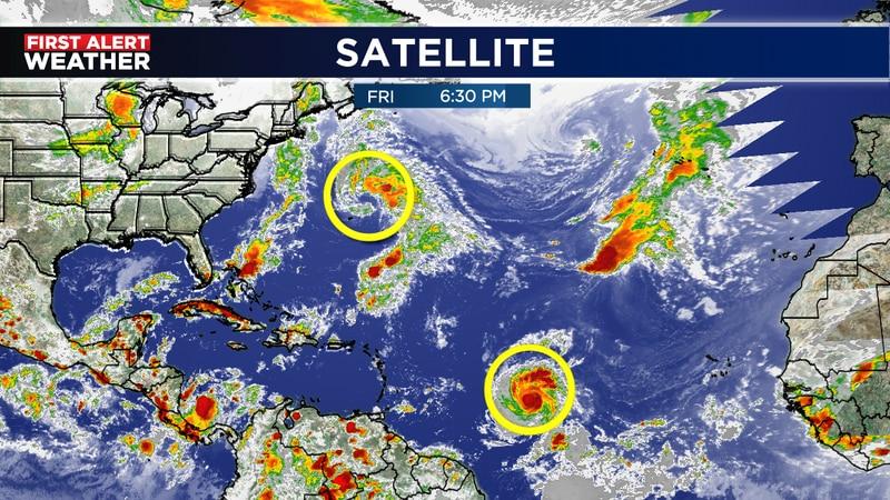 Teresa forms north of Bermuda and Sam gets bigger