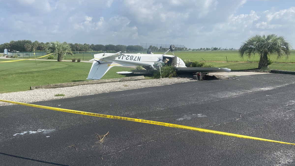 An aircraft crashed shortly after takeoff Thursday in Venice.
