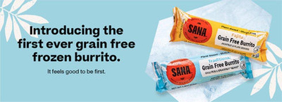 SANA Foods launches first ever grain free frozen burrito.