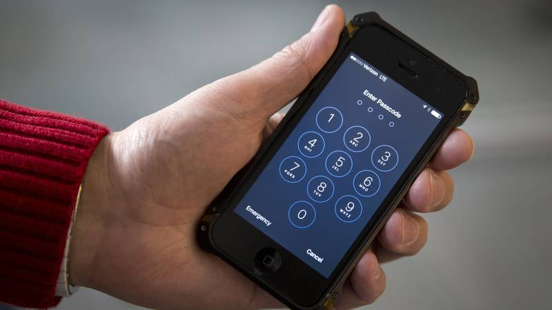 FILE - In this Feb. 17, 2016, file photo an iPhone is seen in Washington. At a time of...