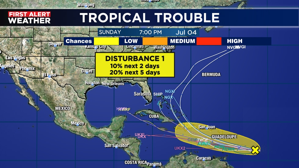 Chances going down on Invest 95-L
