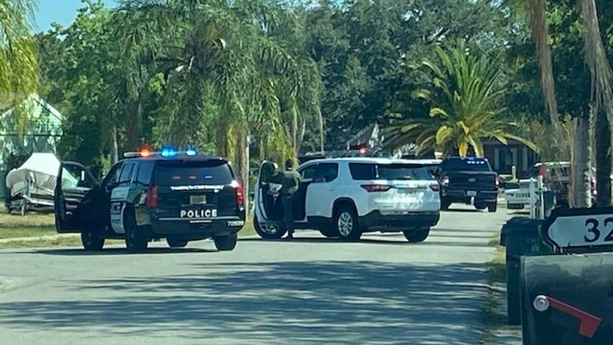North Port police served a warrant at a home on San Pablo Avenue Thursday.