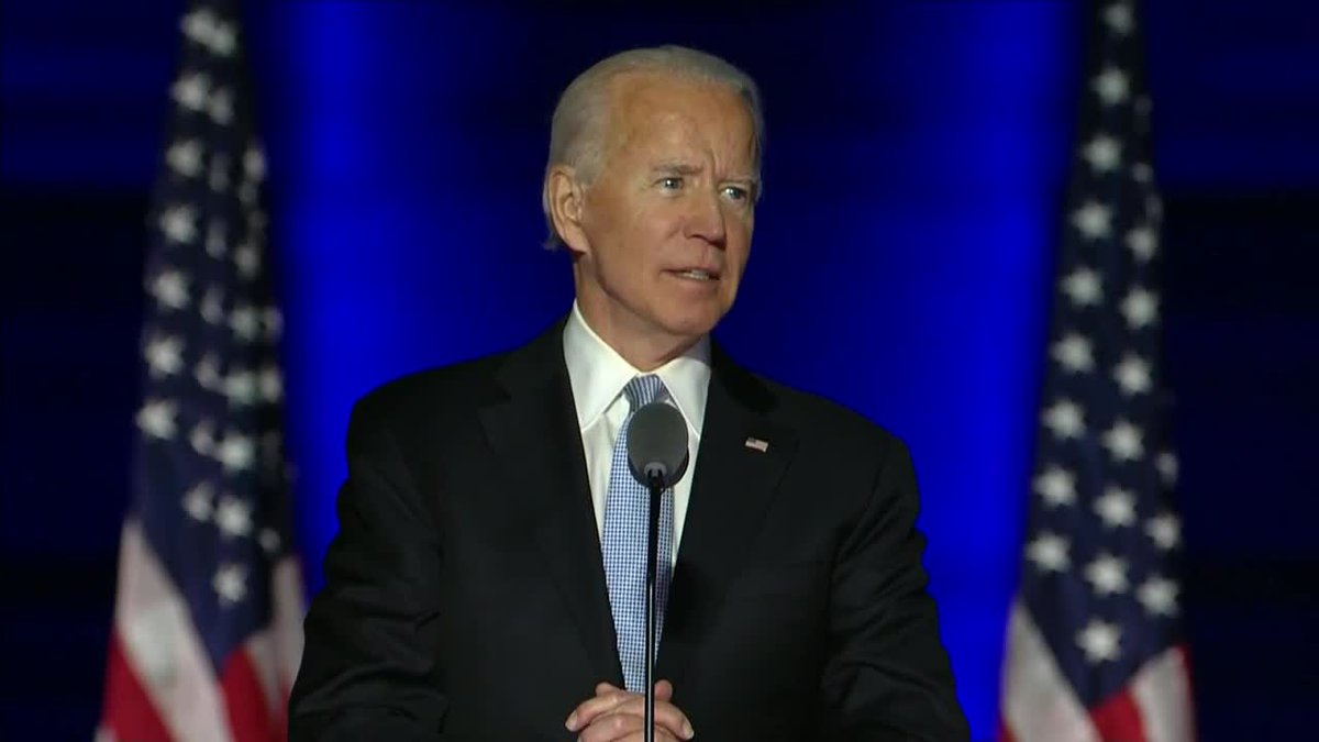 Supporters celebrate as Joe Biden is named the future 46th president of the United States.