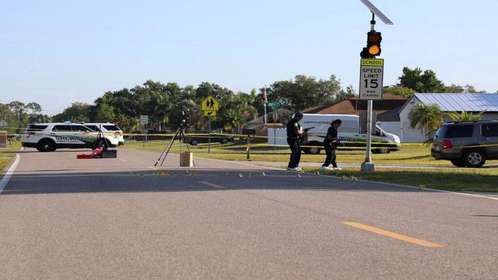 Death investigation scene in Charlotte County