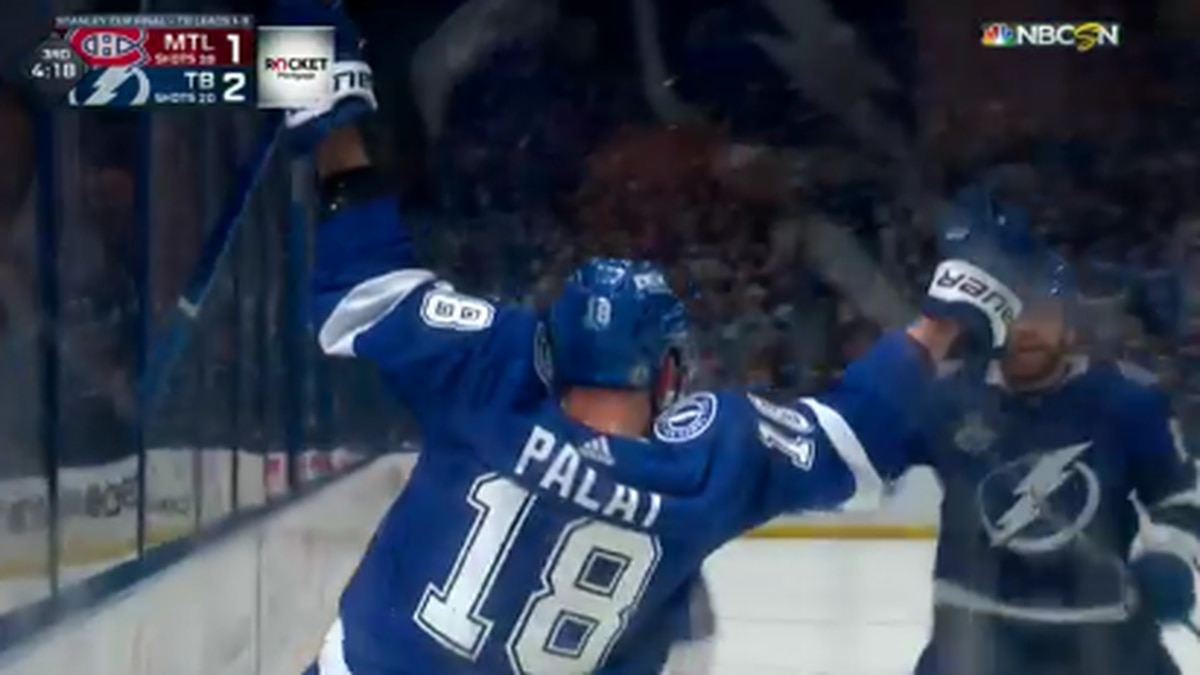 Tampa Bay Lightning wins Game 2 of Stanley Cup Finals.